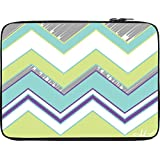 Snoogg Zig Zag Design 2368 10 To 10.6 Inch Laptop Netbook Notebook Slipcase Sleeve