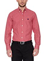 POLO CLUB Camisa Hombre Checks (Rojo)