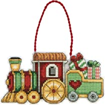 Dimensions Counted Cross Stitch Train Ornament