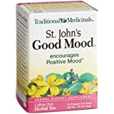 Traditional Medicinals St.Johns Good Mood Herbal Tea, 16-Cjount Wrapped Tea Bags (Pack of 6)
