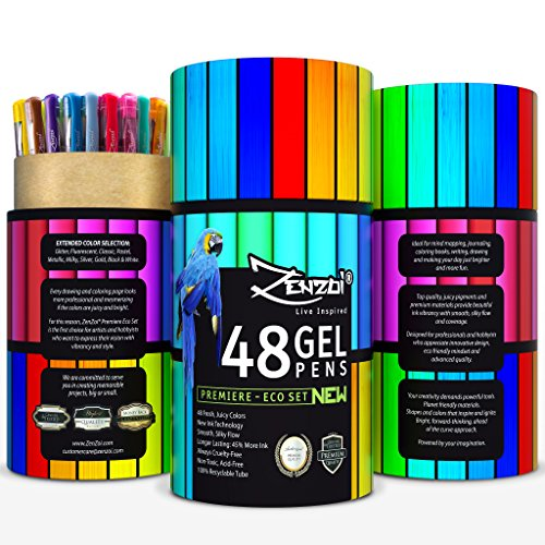 Adult Coloring Glitter Gel Pen Set
