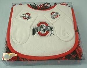 Ohio State Buckeye Baby Bib and Socks Gift Set by Future Tailgater