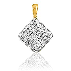 C. Krishniah Chetty Jewellers 18k (750) Yellow Gold and Diamond Pendant