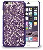 Damask Vintage Floral Print Hard Back Case Cover for Apple iPhone 5 5S - Purple