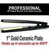 FLAT IRON Hair Straightening Curling 1in Ceramic Plate Plancha Ceramica Alizadora Para Cabello