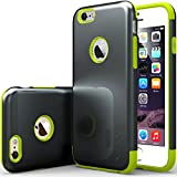"iPhone 6 Case, Caseology [Dual Layer] Apple iPhone 6 (4.7"" inch) Case [Charcoal Black / Lime Green] Premium Slim Fit Impact Resistant Protective Armor Rugged Hard iPhone 6 Case [Made in Korea] (for Apple iPhone 6 Verizon, AT&T Sprint, T-mobile, Unlocked)"