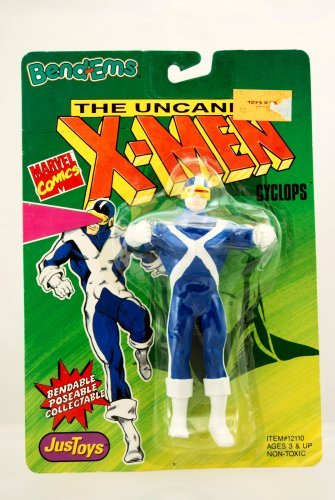 Cyclops Figure - 1991 - Uncanny X-Men Series - Bend-Ems - Bendable - Poseable - Very Rare - Marvel - Limited Edition - Mint - Collectible - 1
