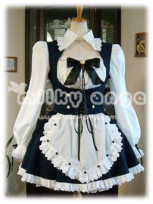 (ミルキーアンジェ) milky ange カフェ メイド キールステン XL ディープブルー ミニ メイド服