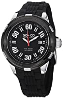 SO&CO York Men's 5005.1 SoHo Analog Display Japanese Quartz Black Watch from SO&CO New York