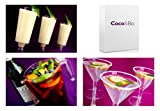 Coco&Bo Christmas Cocktail Pack - Mixed Cocktail Glass Party Pack for 16 Drinks - Gift Boxed for Christmas - Disposable Plastic Glasses includes Martini / Pina Colada & Pitcher Jug