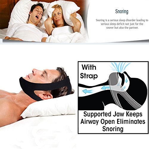 Professional Anti Snore Stop Snoring CPAP Chin Strap by JERN (Adjustable Size) - 1 Pack (Sleep Apnea Snoring compare prices)