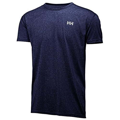 Helly Hansen 48927 Men's VTR Short Sleeve Shirt, Evening Blue Heather - XL