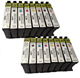2 X T0870 - T0879 Series Compatible Multipack - Full Set of 16 Cartridges for Epson R1900 Printer (Replaces :T0870/Gloss OptimizerBlack T0871/Black T0872/Cyan T0873/Magenta T0874/Yellow T0877/Red T0878/Matt Black T0879/Orange) 16ML ***By TriINKS***