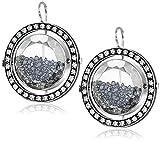"""Moritz Glik """"Kaleidoscope"""" 18K and 14k Gold Floating Black Diamond Earring"""