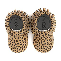 Cheetah Feetah • 100% American leather moccasins for babies & toddlers • Made in US
