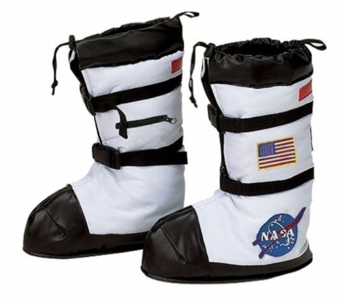 Costumes For All Occasions Ar55Md Astronaut Boots Child Medium