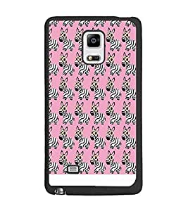 PrintDhaba Zebra Pattern D-1310 Back Case Cover for SAMSUNG GALAXY NOTE EDGE (Multi-Coloured)