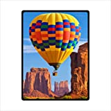 hot air balloon design Fleece Blankets and throws 58 X 80 inch (Large)