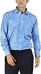 Silkina Men's Regular Fit Shirt (VPOI1102FBL, 40)