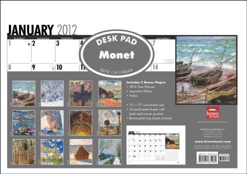 Monet, Claude 2012 Desk Blotter PDF