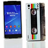 Kit Me Out FR Coque en gel TPU pour Sony Xperia Z2 - multicolores cassette vintage / rétro