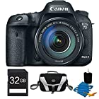 EOS 7D Mark II Digital SLR Camera with 18-135mm IS STM Lens 32GB Bundle. Bundle Includes camera with 18-135 lens, 32GB Secure Digital SD Memory Card, Compact Deluxe Gadget Bag, and 3pc. Lens Cleaning Kit.