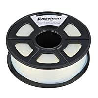 Excelvan 1.75mm PLA 3D Printer Filament - 1kg Spool (2.2 lbs) - Dimensional Accuracy +/- 0.02mm - Multi Colors Available (transparent) from Excelvan