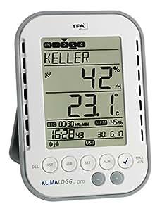 TFA Dostmann Profi-Thermo-Hygrometer mit Datenlogger-Funktion KlimaLogg Pro 303039
