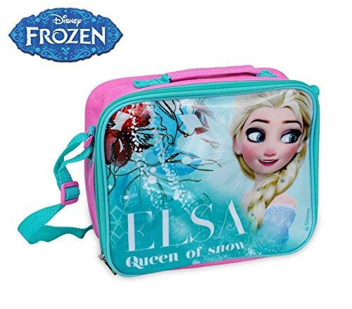 WD17011 Borsa a tracolla porta merenda termica Elsa Frozen 26 x 20 x 9 cm. MWS