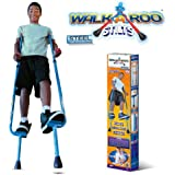 Walkaroo Steel Stilts by Air Kicks with Ergonomic Design for Easy Balance Walking, Assorted Colors (Blue or Red)