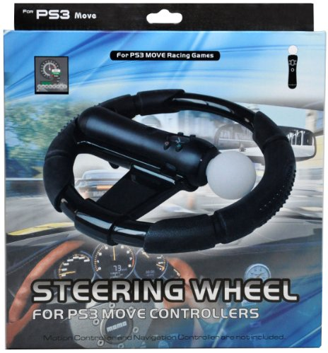 CrazyOnDigital Steering Wheel Controller for Playstation PS3 Move