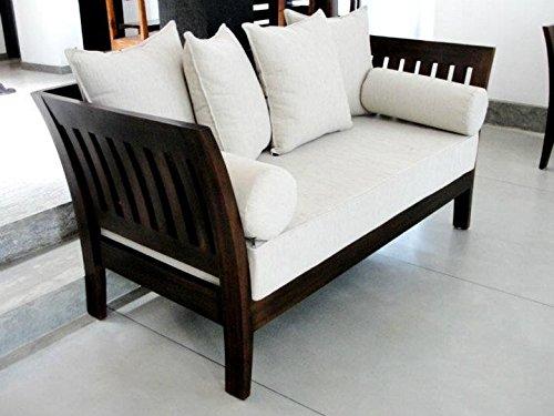 LifeEstyle-com Sheesham Wood Sofa set With Cushion Without Covers