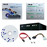 ASUS BW-12B1ST 12X Blu-Ray CD DVD Bluray Internal Burner Drive + BD Suite Software + Cables & Mounting Screws