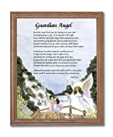 African American Black Guardian Angel Childeren On Bridge Religious Wall Picture Oak Framed Art Print