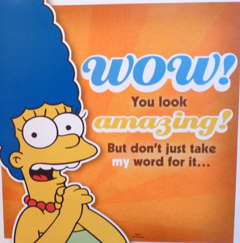 Giant Marge Simpson The Simpsons Birthday Card With Sound Birthday