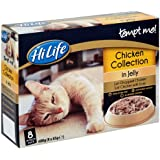 HiLife Tempt Me! Cat Food Chicken Collection in Jelly '32 x 85g Pouches' (Pack of 4)