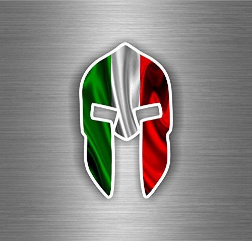 autocollant-sticker-voiture-moto-guerrier-trojan-spartan-drapeau-italie-italien