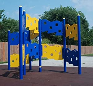 Kidstuff Playsystems 82206 Zig Zag Climbing Wall- 6 Section