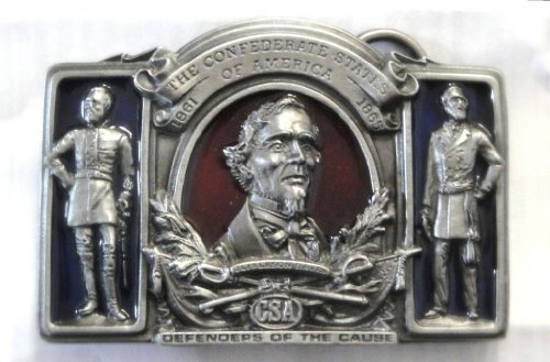 "Davis, Lee And Jackson ""Defenders Of The Cause"" Pewter Belt Buckle Made By Bergamont"