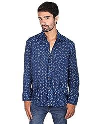 Rajrang Party wear Hand Block Printed Men's Shirt Size M