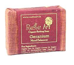 Rustic Art Organic Geranium Soap 100 grams