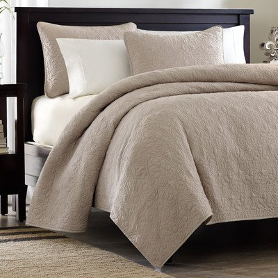 For Sale! Quebec 3 Piece Coverlet Set Size: King, Color: Khaki