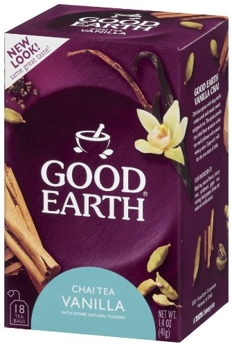 Good Earth Chai Vanilla, 18-Count Tea Bags (Pack of 6)