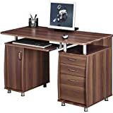 Quality Piranha Computer Desk with Filing Drawer and Cupboard Home Office PC2w