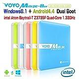 ◇MINIPC-BOX VOYO ミニPC ボックス デュアルブート ステック Windows8.1 4Kメディアプレーヤー インテルZ3735F 1.33GHz RAM:2GB ROM:eMMC 64GB ホワイト [並行輸入品]