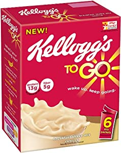 Kellogg's To Go Breakfast Shake Mix, Vanilla, 7.62 Ounce