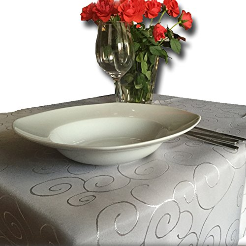 jemidi tischdecke ornamente seidenglanz edel tisch decke tafeldecke 31 gr en und 7 farben. Black Bedroom Furniture Sets. Home Design Ideas