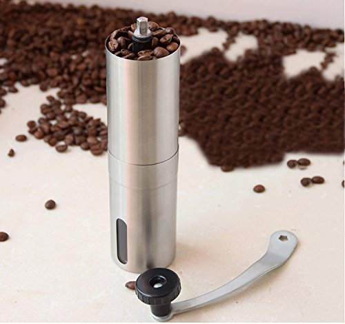 Most Consistent Hand Coffee Grinder & Coffee Press - DN Grinder made with Professional Grade Stainless Steel. Perfect Manual Coffee Grinder for French Press, Espresso or as a Spice or Herb Grinder.