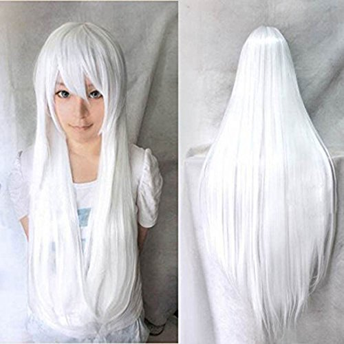 Long straight whte wig 32
