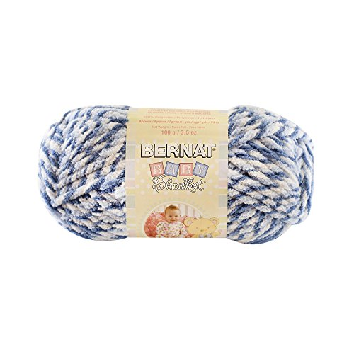 Spinrite Baby Blanket Big Ball Yarn, Blue Dreams